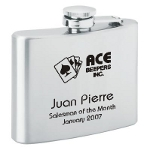 4oz personalized flask