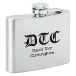 Monogram Personalized Flask