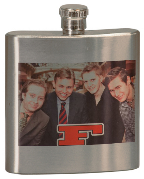 full color photo flask
