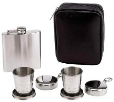 flask collapsible cups set