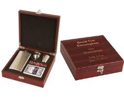 Engraved Flask Gift Box