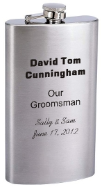 Narrow Personalized Flask