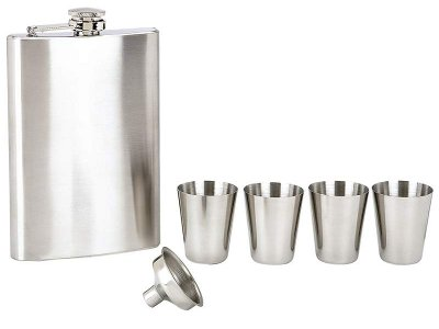 6 piece flask set