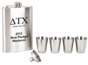 Greek Personalized Flask Set